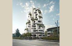 Der Stollturm, das höchste Gebäude in Münchenstein.<br />Architektur Rolf Stalder AG